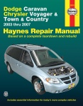 INSTRUKCJA DODGE CARAVAN - CHRYSLER VOYAGER, TOWN, COUNTRY (2003-2007)